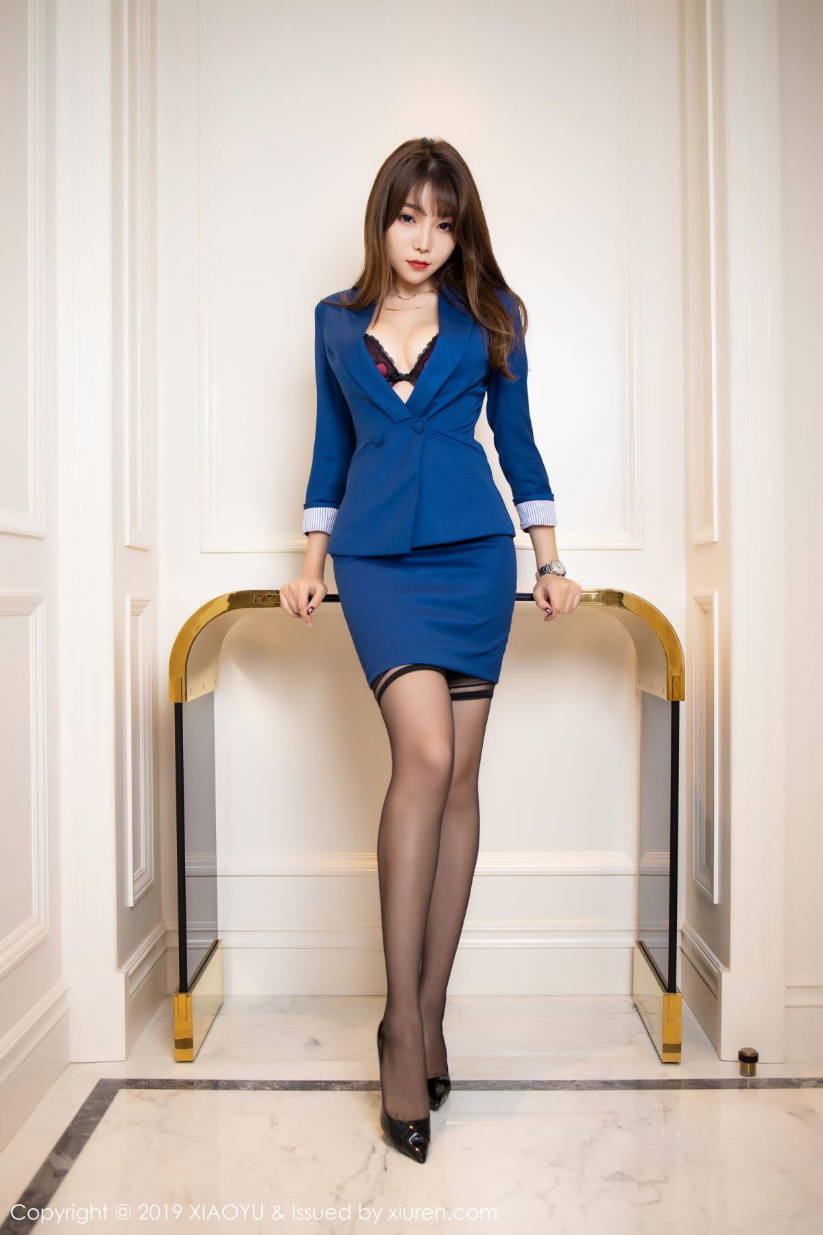[XiaoYu] Vol.205 Chen Zhi 1P, Black Silk, Chen Zhi, Underwear, Uniform, XiaoYu