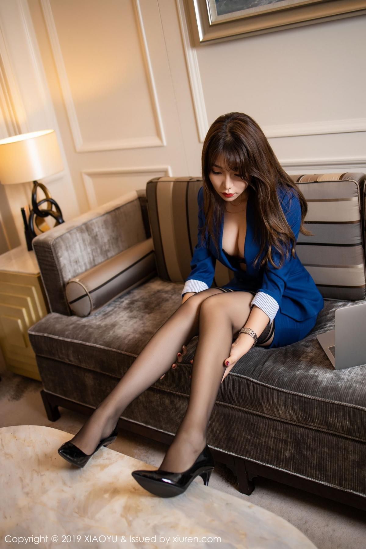 [XiaoYu] Vol.205 Chen Zhi 20P, Black Silk, Chen Zhi, Underwear, Uniform, XiaoYu