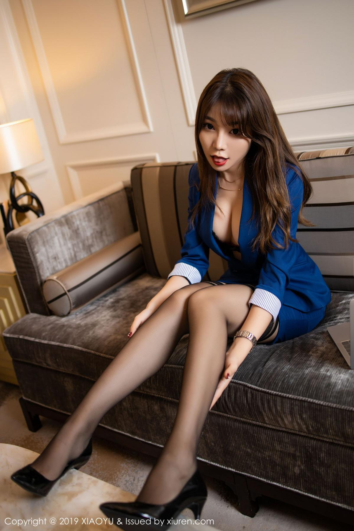 [XiaoYu] Vol.205 Chen Zhi 22P, Black Silk, Chen Zhi, Underwear, Uniform, XiaoYu