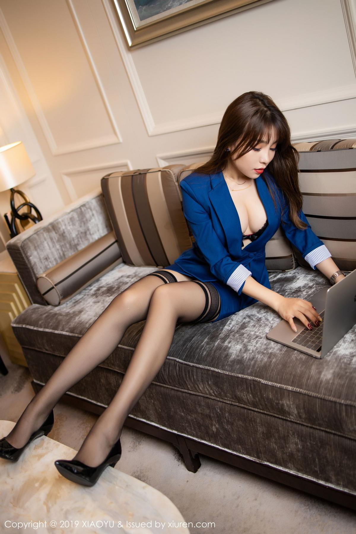[XiaoYu] Vol.205 Chen Zhi 23P, Black Silk, Chen Zhi, Underwear, Uniform, XiaoYu