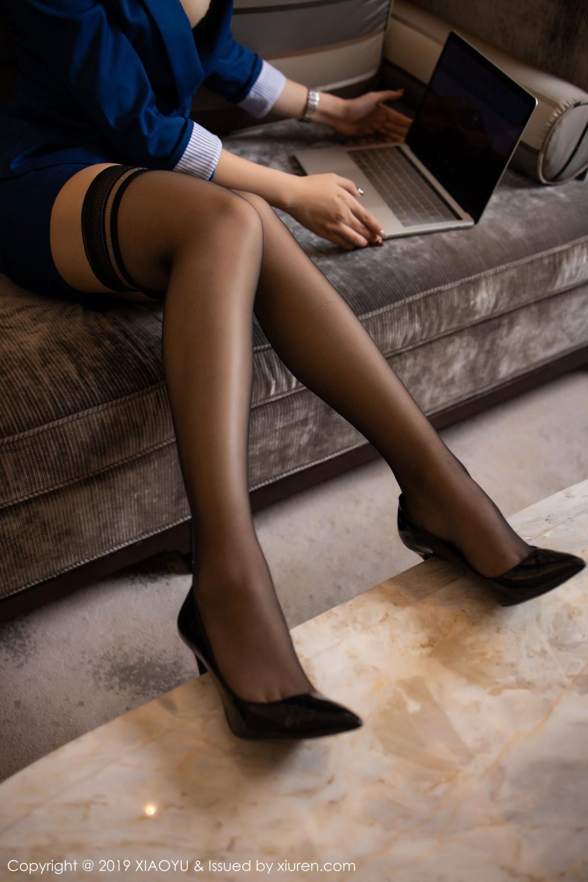 [XiaoYu] Vol.205 Chen Zhi 25P, Black Silk, Chen Zhi, Underwear, Uniform, XiaoYu