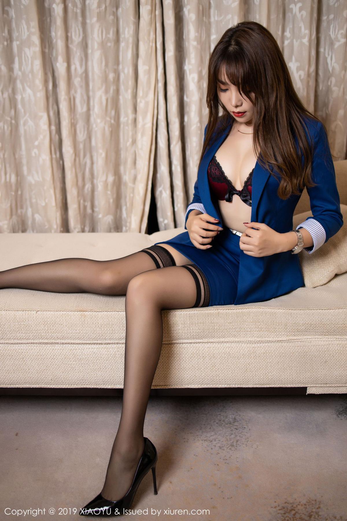 [XiaoYu] Vol.205 Chen Zhi 29P, Black Silk, Chen Zhi, Underwear, Uniform, XiaoYu