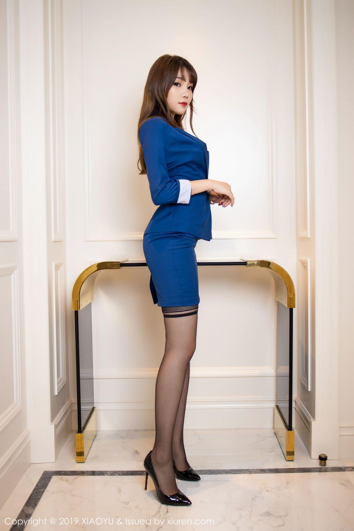[XiaoYu] Vol.205 Chen Zhi 2P, Black Silk, Chen Zhi, Underwear, Uniform, XiaoYu