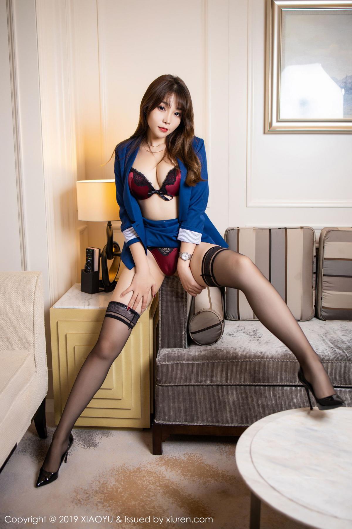 [XiaoYu] Vol.205 Chen Zhi 33P, Black Silk, Chen Zhi, Underwear, Uniform, XiaoYu