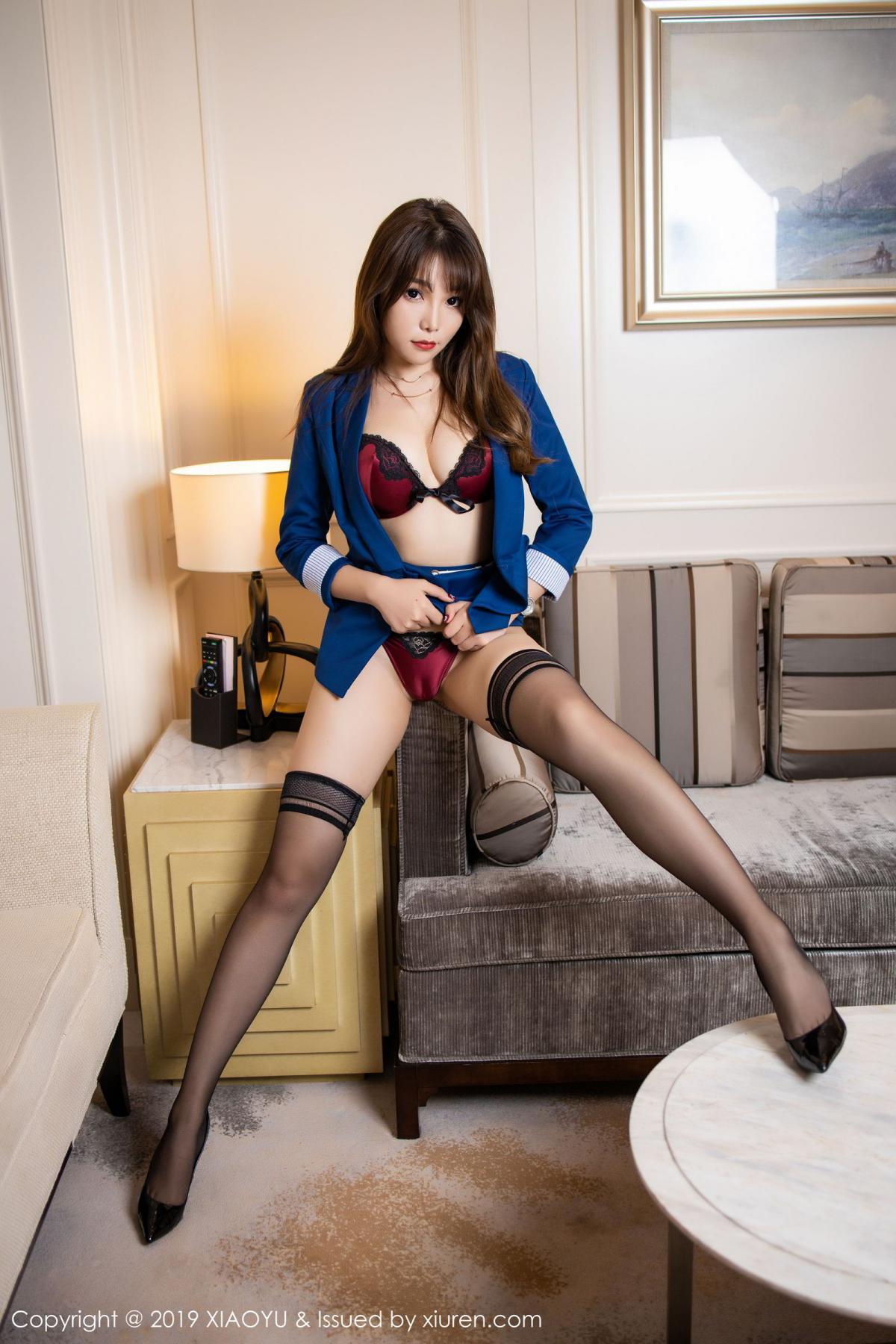[XiaoYu] Vol.205 Chen Zhi 34P, Black Silk, Chen Zhi, Underwear, Uniform, XiaoYu