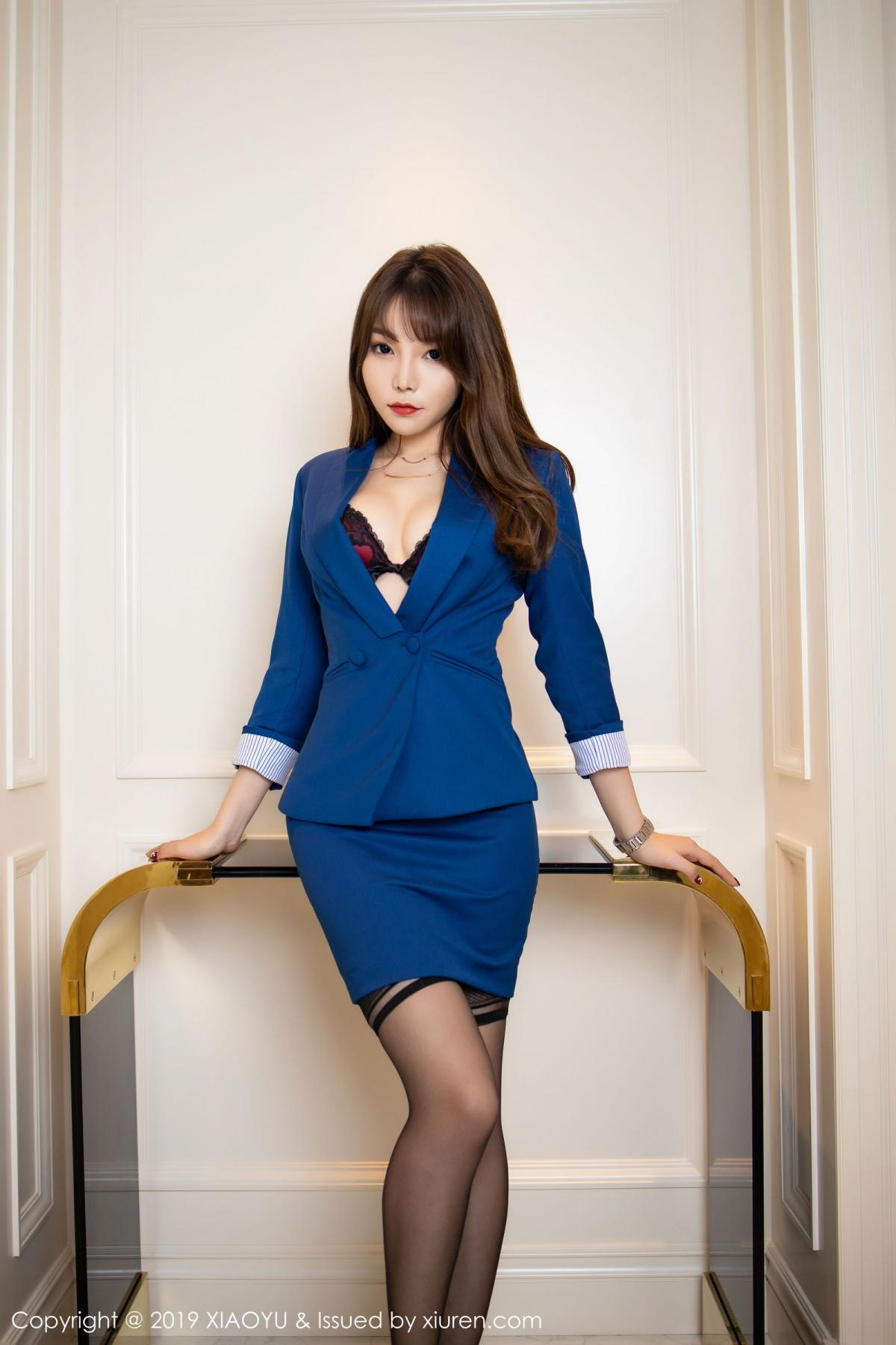 [XiaoYu] Vol.205 Chen Zhi 4P, Black Silk, Chen Zhi, Underwear, Uniform, XiaoYu