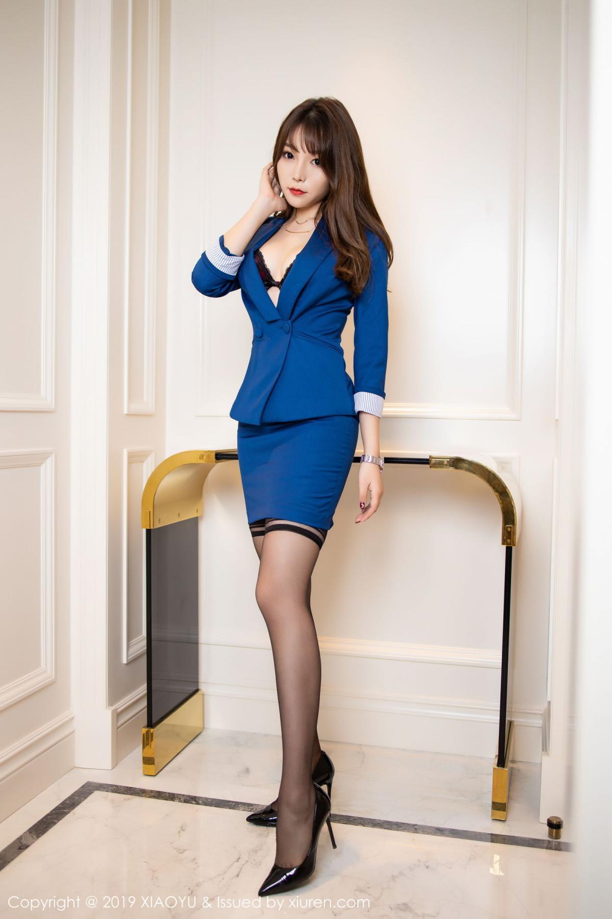 [XiaoYu] Vol.205 Chen Zhi 5P, Black Silk, Chen Zhi, Underwear, Uniform, XiaoYu
