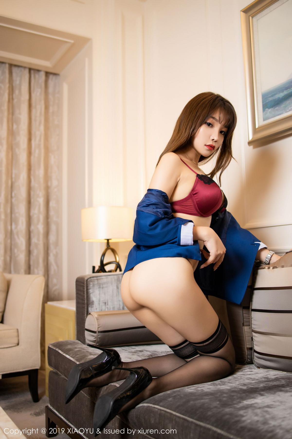 [XiaoYu] Vol.205 Chen Zhi 61P, Black Silk, Chen Zhi, Underwear, Uniform, XiaoYu