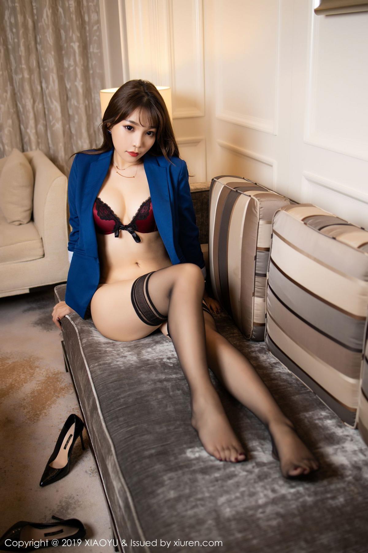 [XiaoYu] Vol.205 Chen Zhi 64P, Black Silk, Chen Zhi, Underwear, Uniform, XiaoYu