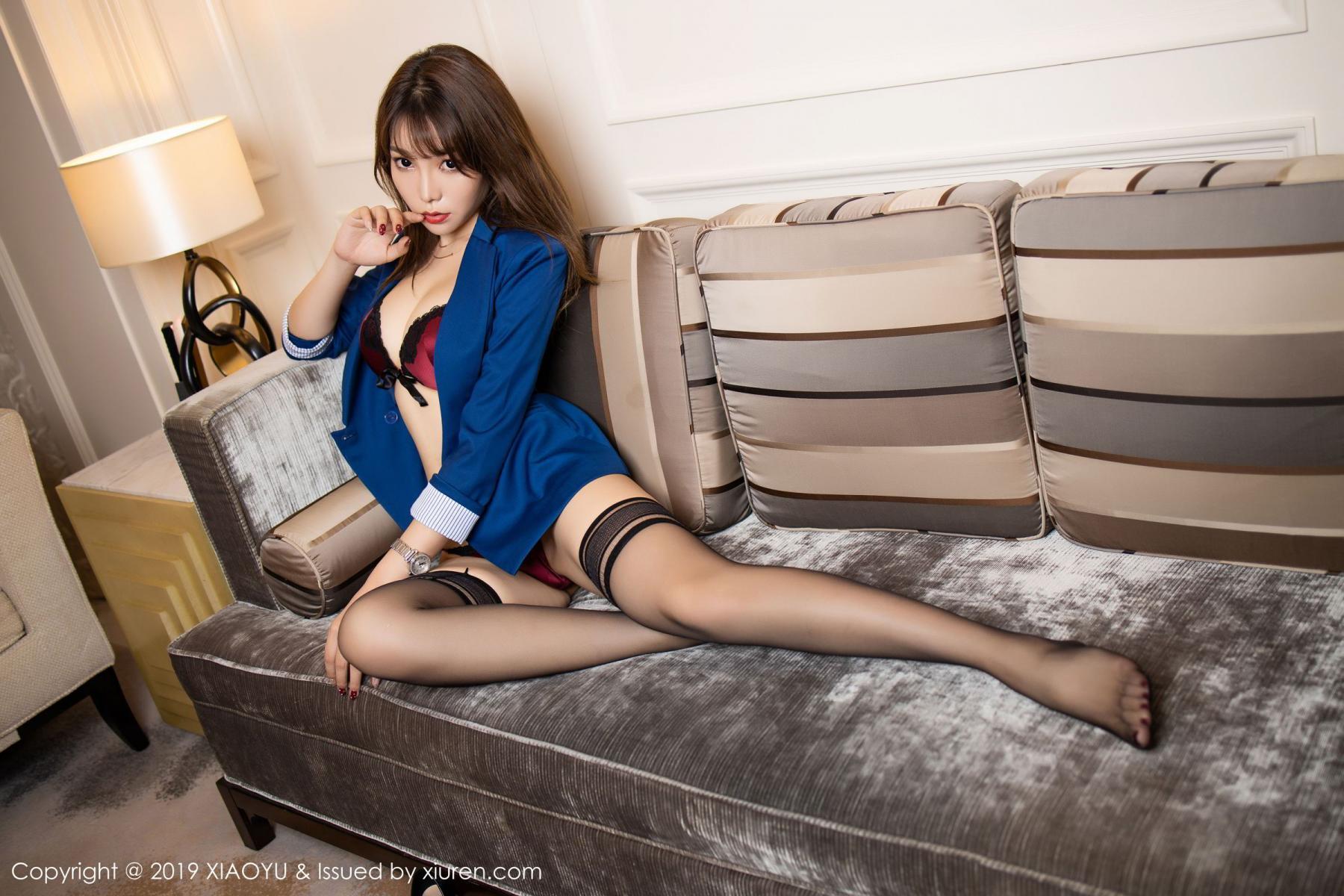 [XiaoYu] Vol.205 Chen Zhi 66P, Black Silk, Chen Zhi, Underwear, Uniform, XiaoYu