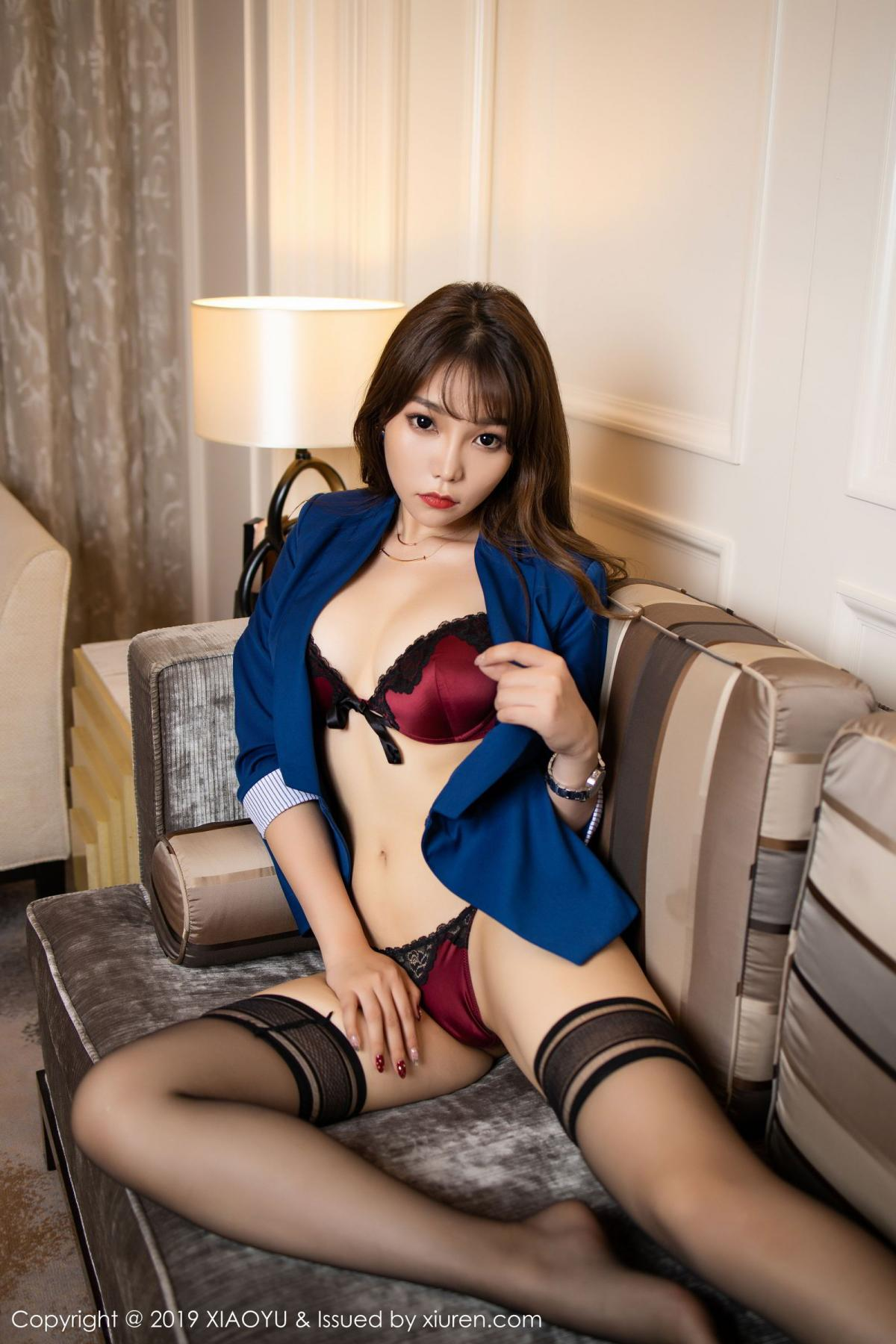 [XiaoYu] Vol.205 Chen Zhi 68P, Black Silk, Chen Zhi, Underwear, Uniform, XiaoYu
