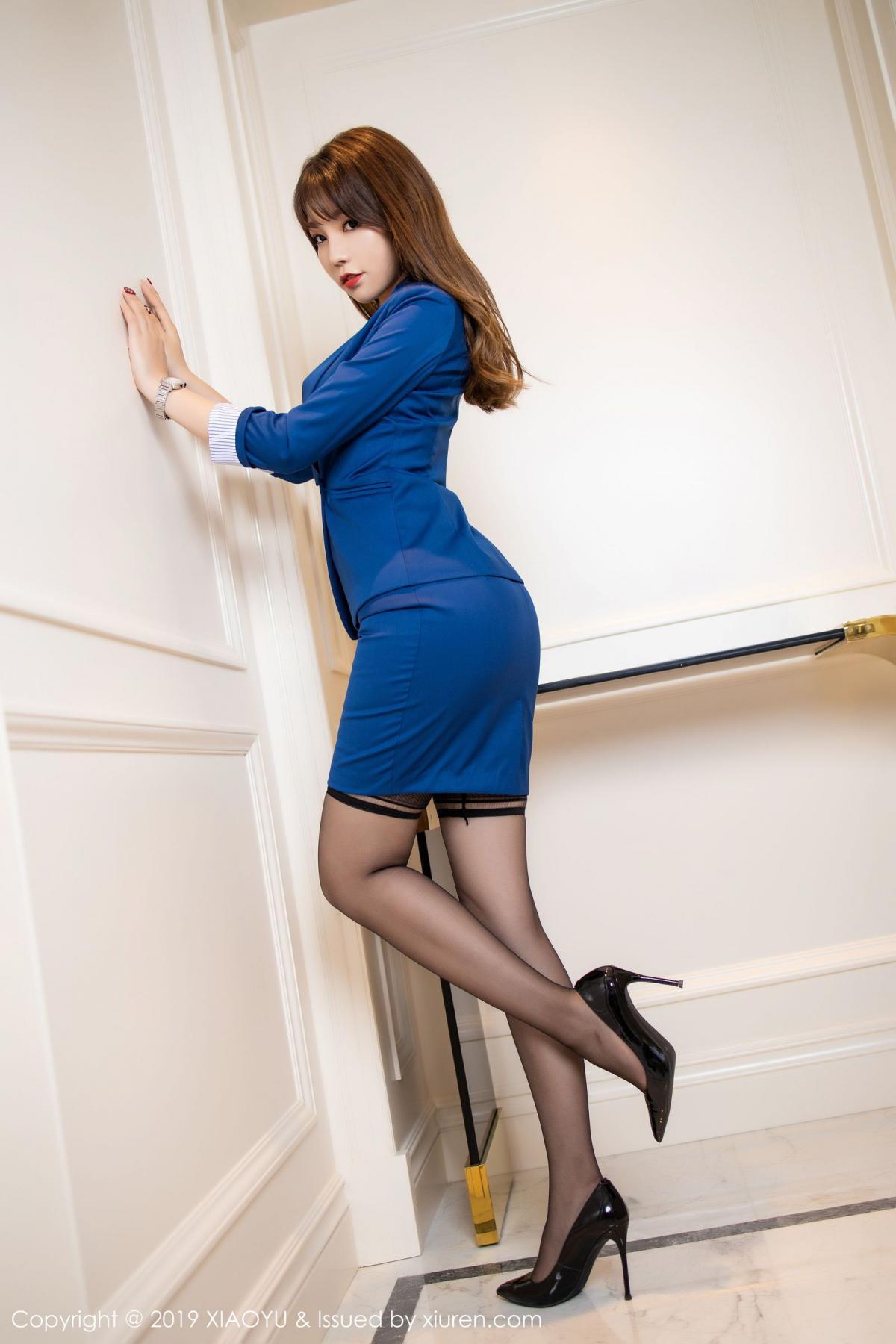 [XiaoYu] Vol.205 Chen Zhi 9P, Black Silk, Chen Zhi, Underwear, Uniform, XiaoYu