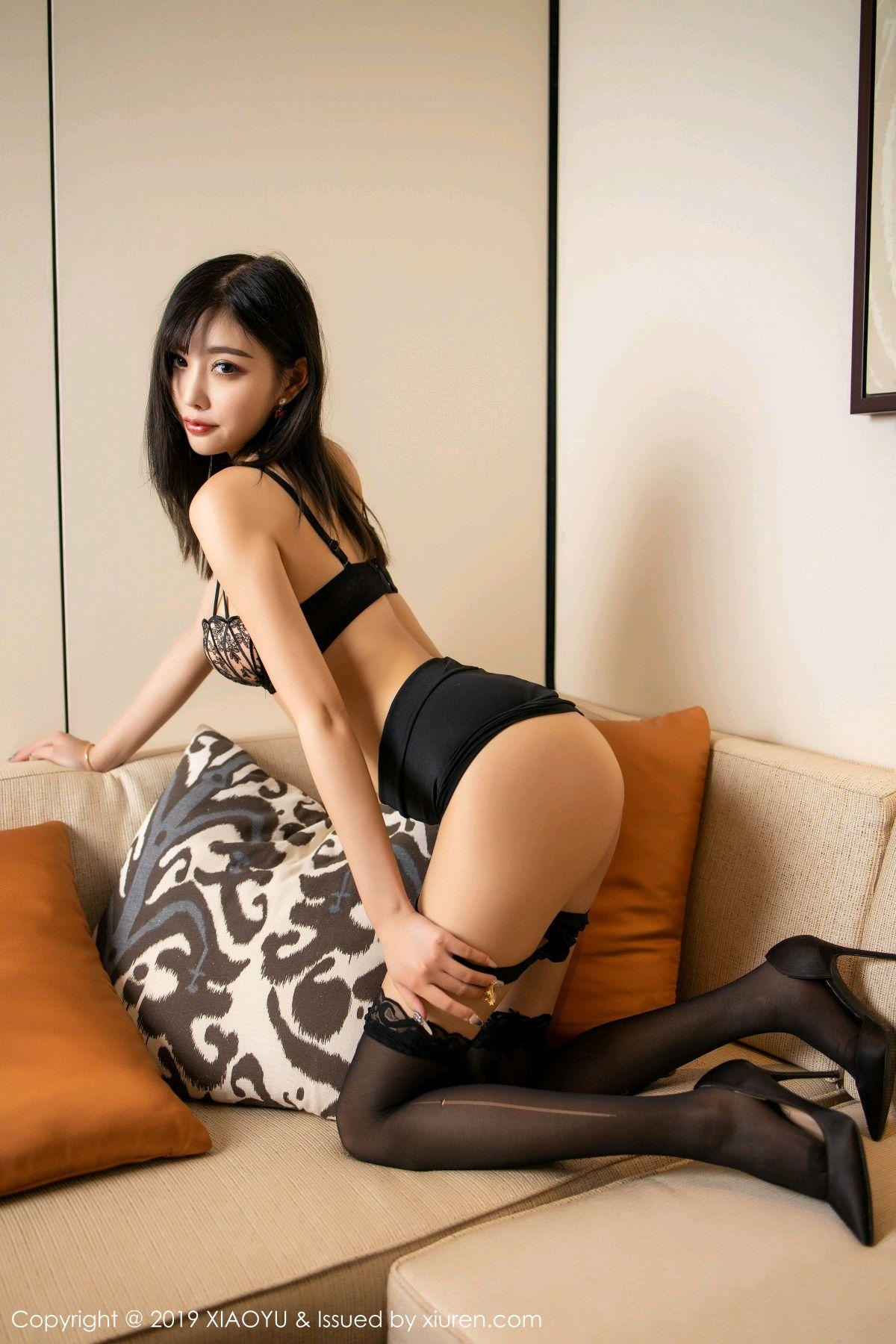 [XiaoYu] Vol.214 Yang Chen Chen 45P, Black Silk, Temperament, XiaoYu, Yang Chen Chen