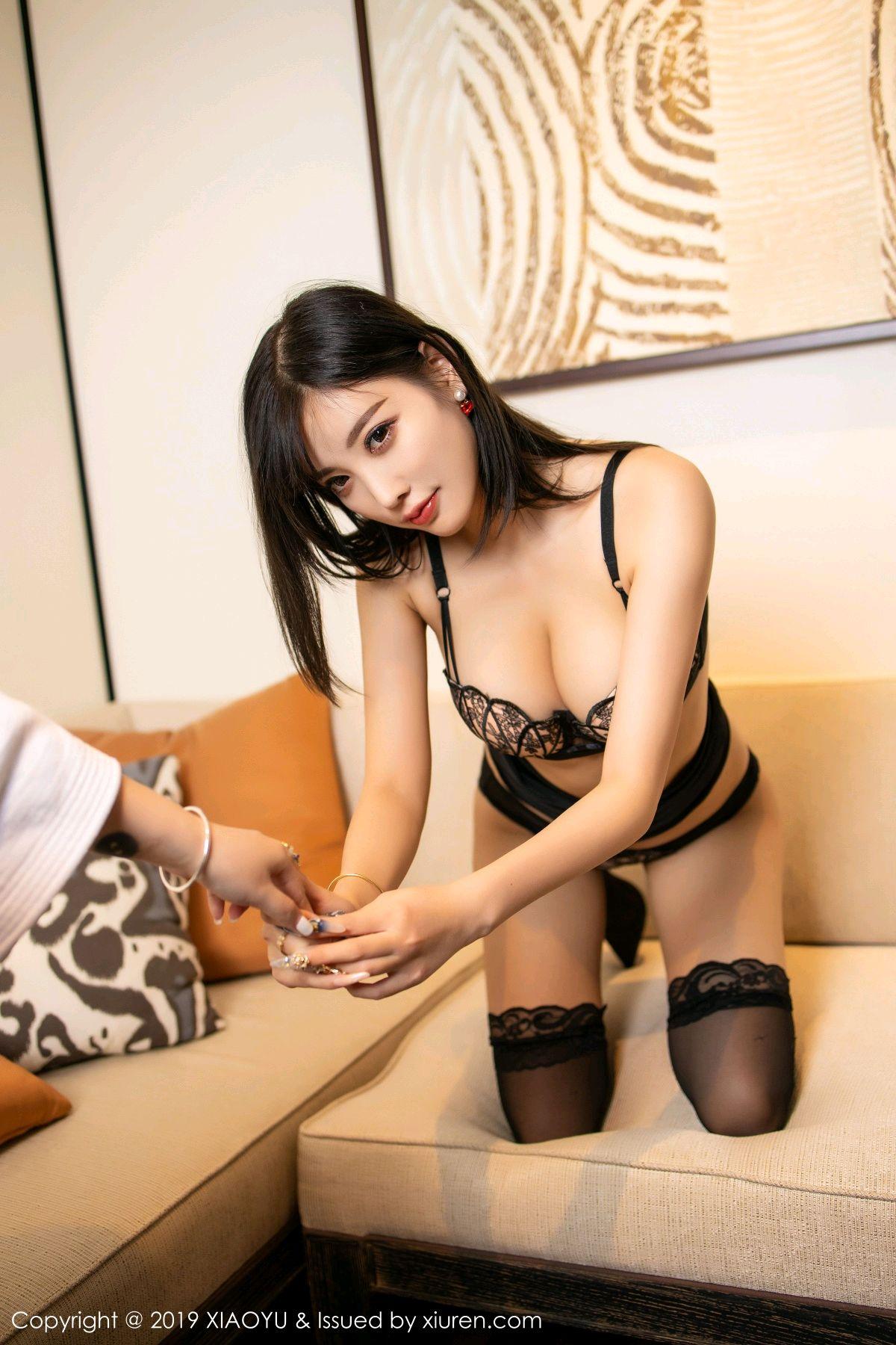 [XiaoYu] Vol.214 Yang Chen Chen 51P, Black Silk, Temperament, XiaoYu, Yang Chen Chen