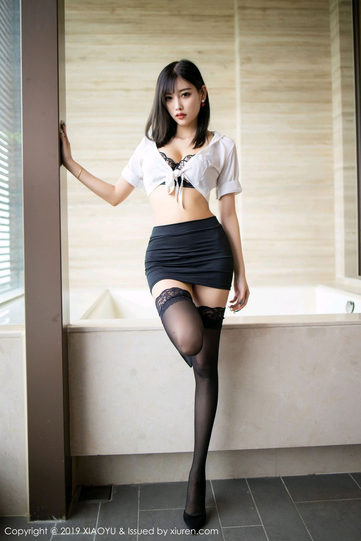 [XiaoYu] Vol.214 Yang Chen Chen 7P, Black Silk, Temperament, XiaoYu, Yang Chen Chen
