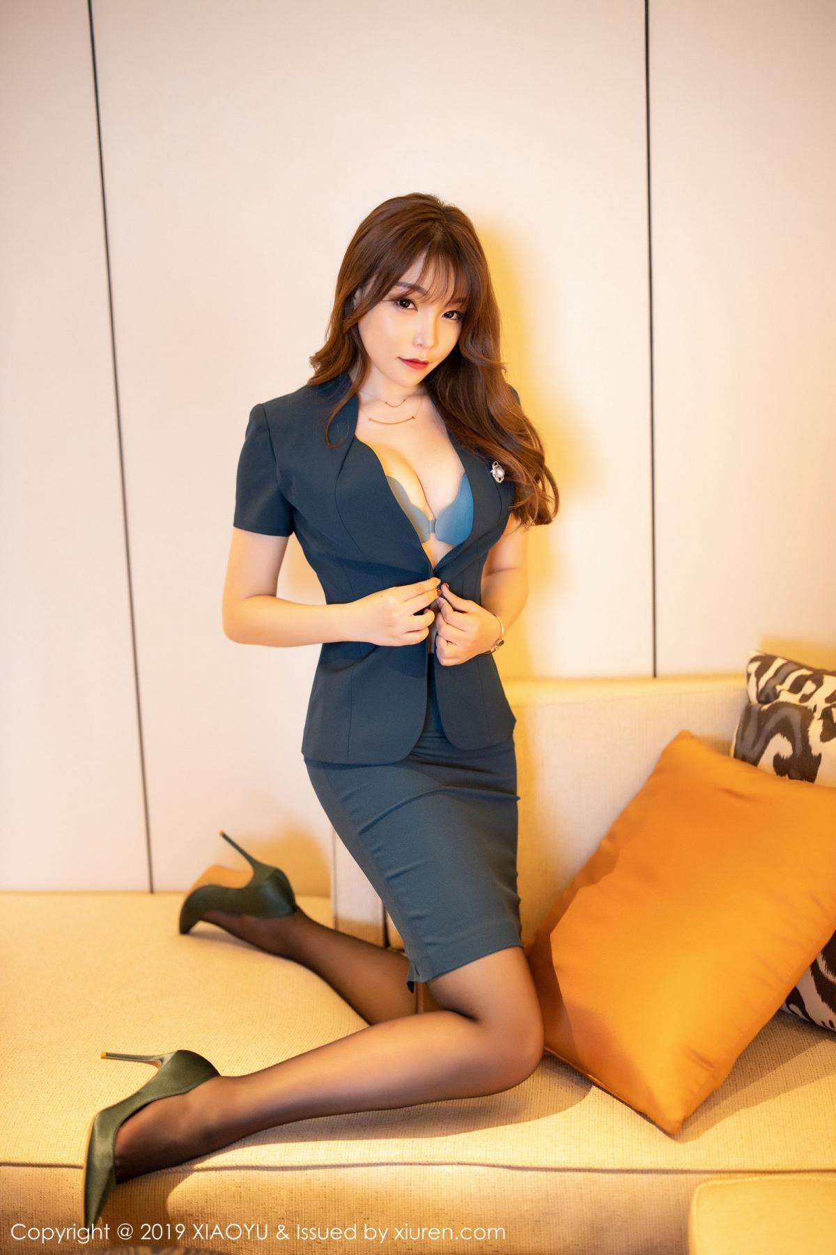 [XiaoYu] Vol.215 Zhi Zhi Booty 11P, Black Silk, Chen Zhi, Tall, XiaoYu