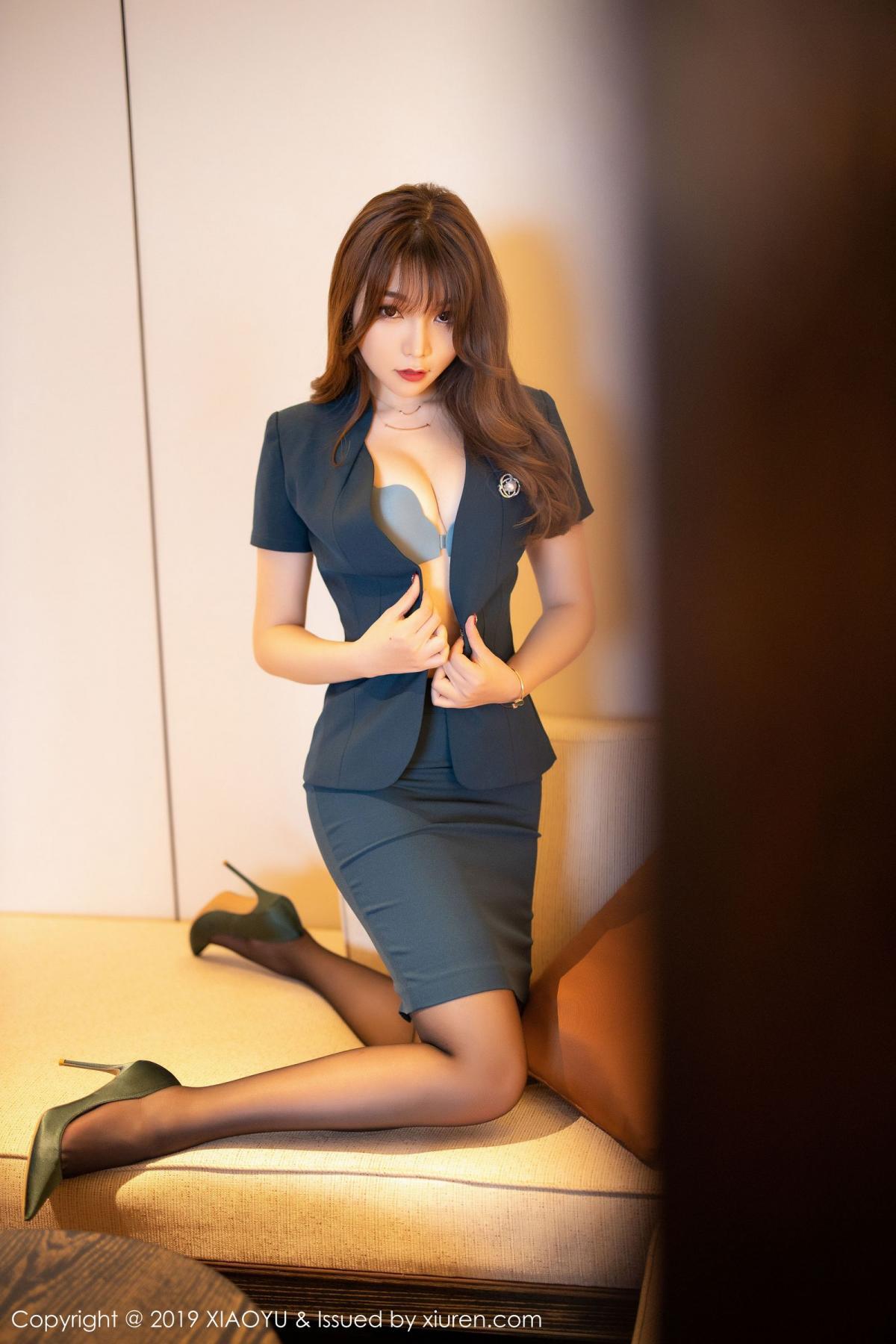 [XiaoYu] Vol.215 Zhi Zhi Booty 12P, Black Silk, Chen Zhi, Tall, XiaoYu