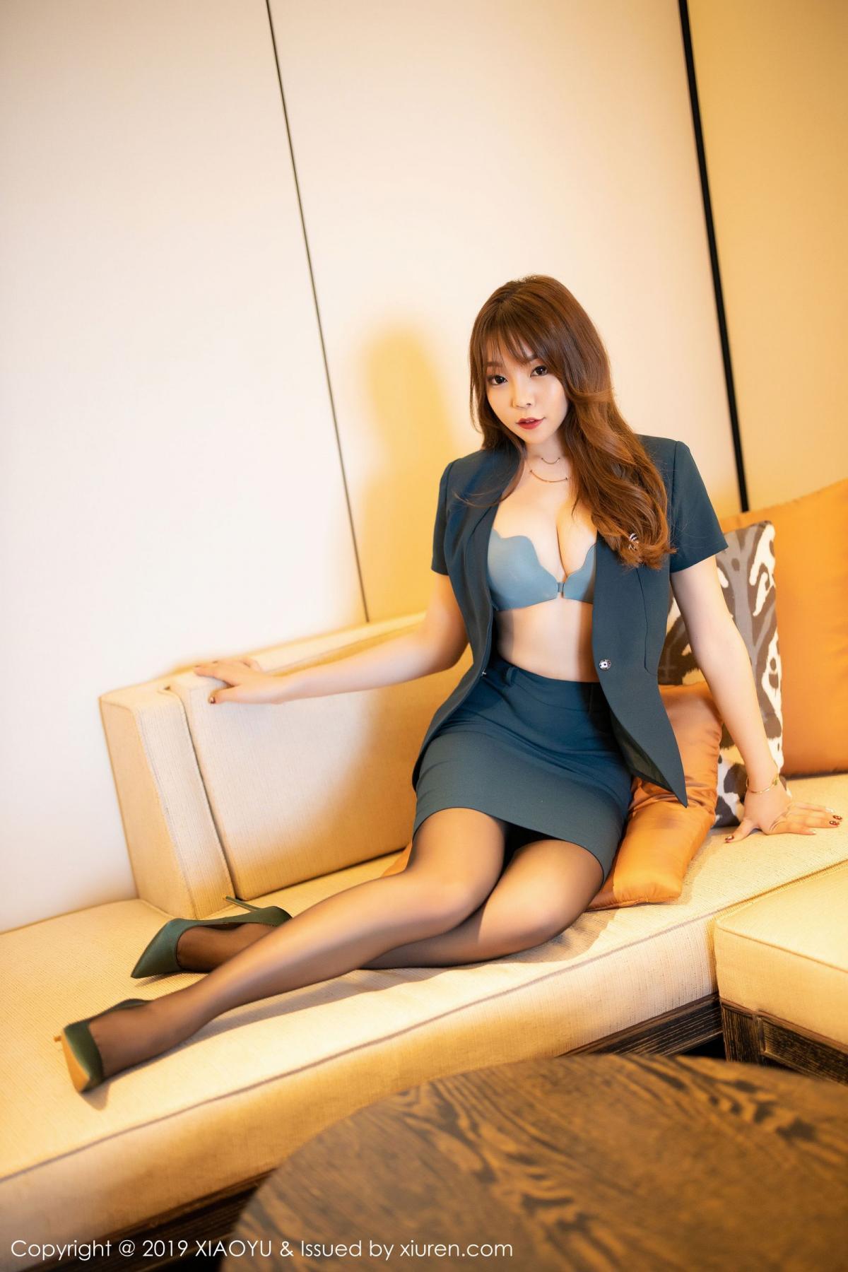 [XiaoYu] Vol.215 Zhi Zhi Booty 13P, Black Silk, Chen Zhi, Tall, XiaoYu