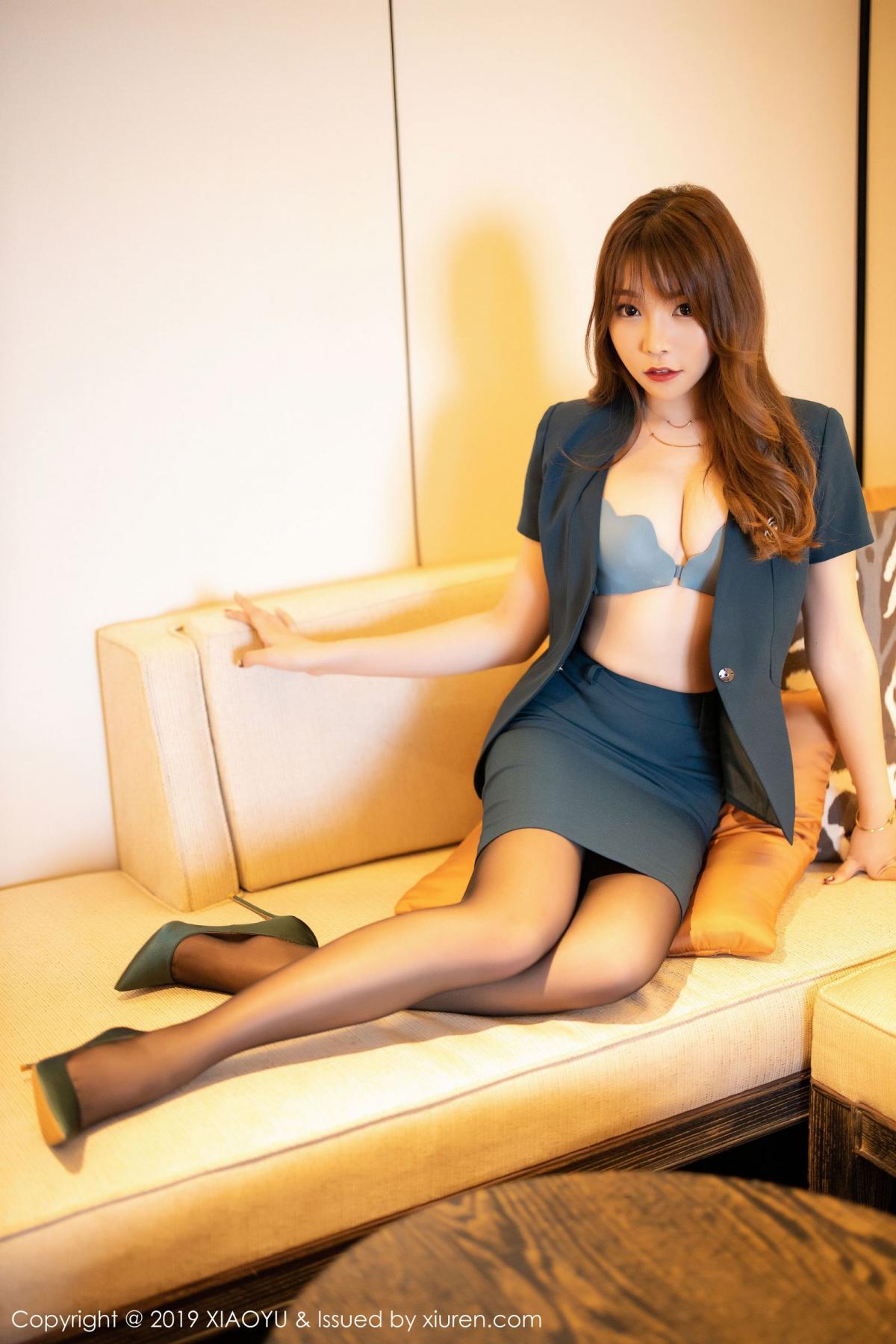 [XiaoYu] Vol.215 Zhi Zhi Booty 14P, Black Silk, Chen Zhi, Tall, XiaoYu