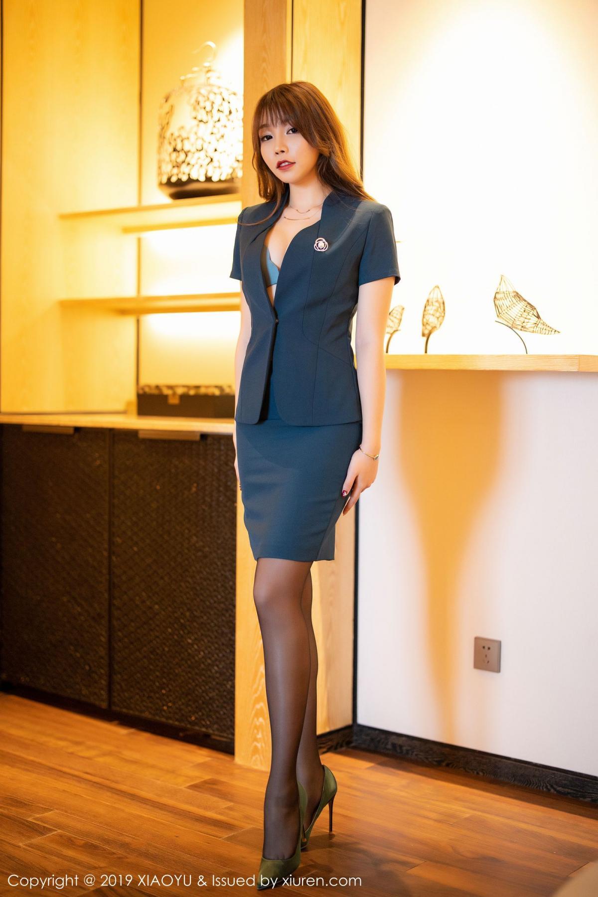 [XiaoYu] Vol.215 Zhi Zhi Booty 1P, Black Silk, Chen Zhi, Tall, XiaoYu