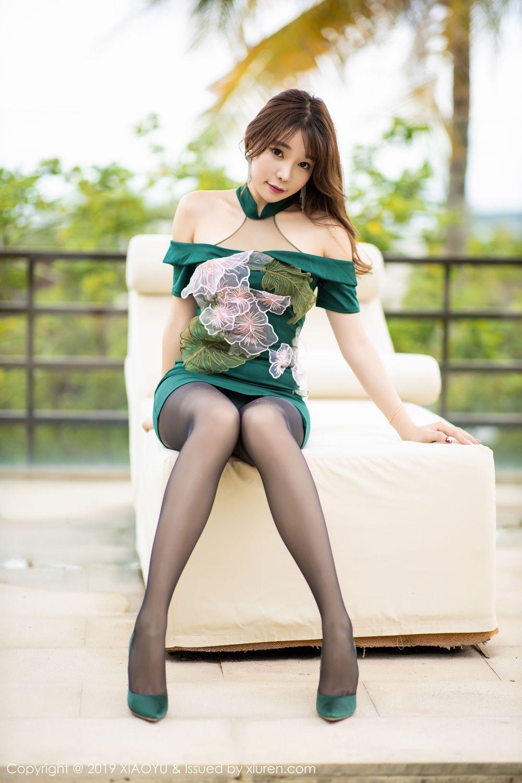 [XiaoYu] Vol.220 Zhi Zhi Booty 10P, Chen Zhi, Cheongsam, Tall, XiaoYu