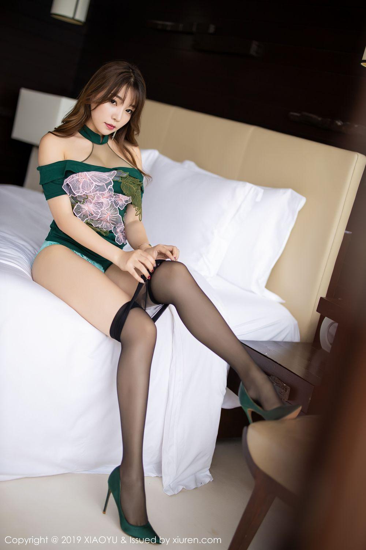 [XiaoYu] Vol.220 Zhi Zhi Booty 34P, Chen Zhi, Cheongsam, Tall, XiaoYu