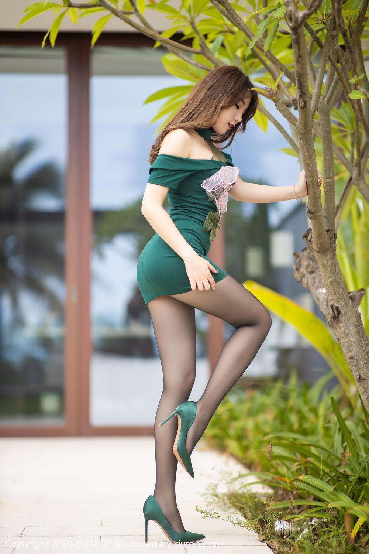 [XiaoYu] Vol.220 Zhi Zhi Booty 4P, Chen Zhi, Cheongsam, Tall, XiaoYu