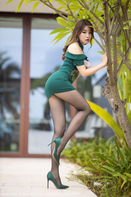 [XiaoYu] Vol.220 Zhi Zhi Booty 5P, Chen Zhi, Cheongsam, Tall, XiaoYu