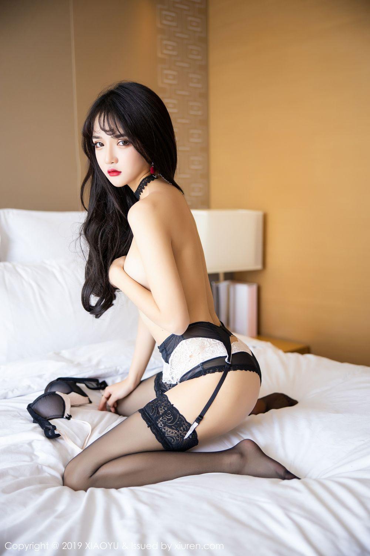 [XiaoYu] Vol.222 Miko Jiang 110P, Black Silk, Christmas, Miko Jiang, Tall, XiaoYu