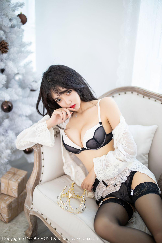 [XiaoYu] Vol.222 Miko Jiang 11P, Black Silk, Christmas, Miko Jiang, Tall, XiaoYu