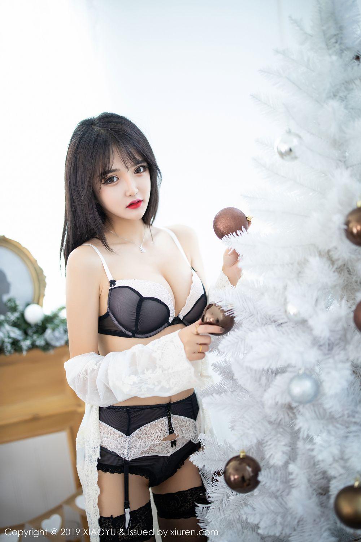 [XiaoYu] Vol.222 Miko Jiang 16P, Black Silk, Christmas, Miko Jiang, Tall, XiaoYu