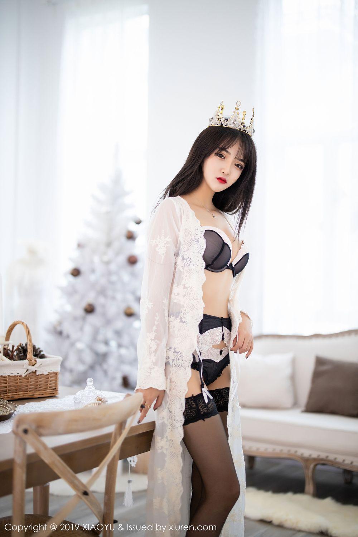 [XiaoYu] Vol.222 Miko Jiang 1P, Black Silk, Christmas, Miko Jiang, Tall, XiaoYu
