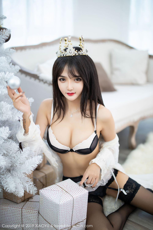 [XiaoYu] Vol.222 Miko Jiang 22P, Black Silk, Christmas, Miko Jiang, Tall, XiaoYu