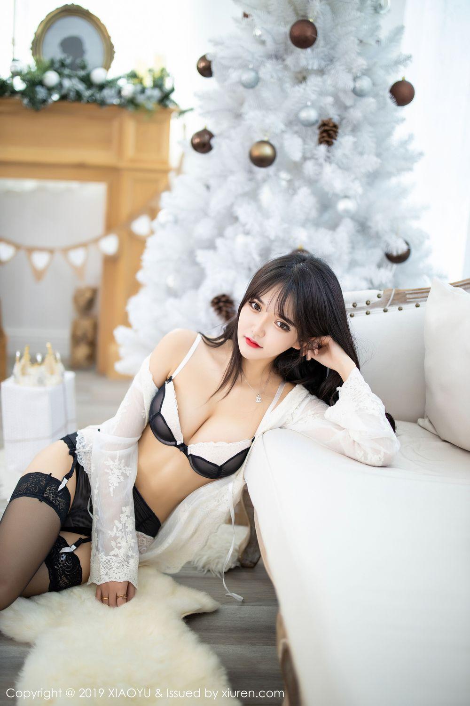 [XiaoYu] Vol.222 Miko Jiang 32P, Black Silk, Christmas, Miko Jiang, Tall, XiaoYu