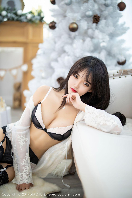 [XiaoYu] Vol.222 Miko Jiang 33P, Black Silk, Christmas, Miko Jiang, Tall, XiaoYu