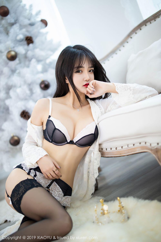 [XiaoYu] Vol.222 Miko Jiang 36P, Black Silk, Christmas, Miko Jiang, Tall, XiaoYu