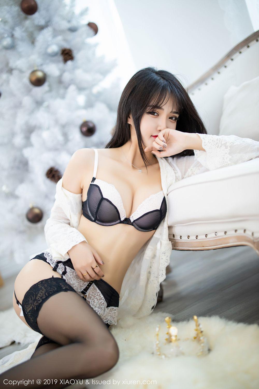 [XiaoYu] Vol.222 Miko Jiang 37P, Black Silk, Christmas, Miko Jiang, Tall, XiaoYu