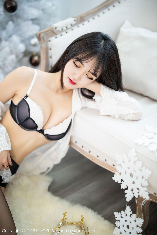 [XiaoYu] Vol.222 Miko Jiang 38P, Black Silk, Christmas, Miko Jiang, Tall, XiaoYu