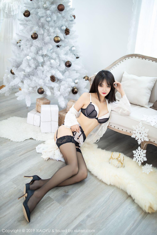 [XiaoYu] Vol.222 Miko Jiang 39P, Black Silk, Christmas, Miko Jiang, Tall, XiaoYu