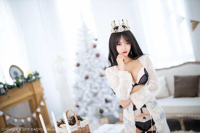 [XiaoYu] Vol.222 Miko Jiang 3P, Black Silk, Christmas, Miko Jiang, Tall, XiaoYu