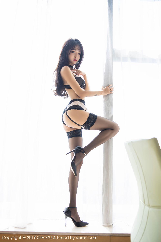 [XiaoYu] Vol.222 Miko Jiang 45P, Black Silk, Christmas, Miko Jiang, Tall, XiaoYu