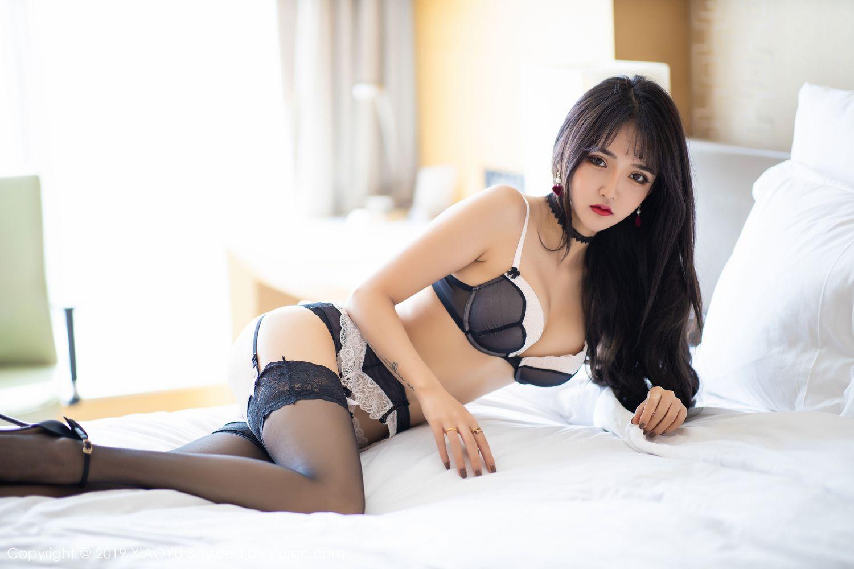 [XiaoYu] Vol.222 Miko Jiang 64P, Black Silk, Christmas, Miko Jiang, Tall, XiaoYu