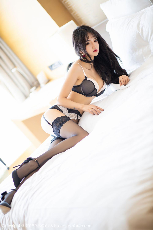 [XiaoYu] Vol.222 Miko Jiang 65P, Black Silk, Christmas, Miko Jiang, Tall, XiaoYu