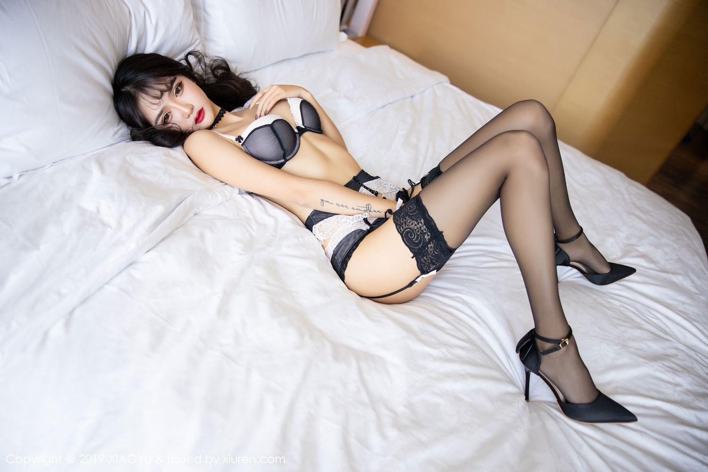 [XiaoYu] Vol.222 Miko Jiang 75P, Black Silk, Christmas, Miko Jiang, Tall, XiaoYu