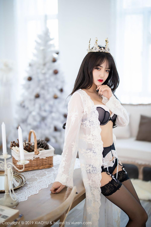 [XiaoYu] Vol.222 Miko Jiang 7P, Black Silk, Christmas, Miko Jiang, Tall, XiaoYu