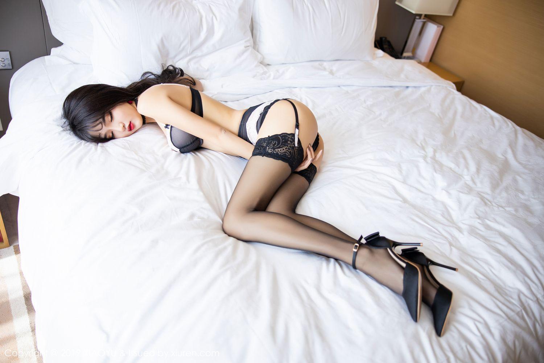 [XiaoYu] Vol.222 Miko Jiang 83P, Black Silk, Christmas, Miko Jiang, Tall, XiaoYu