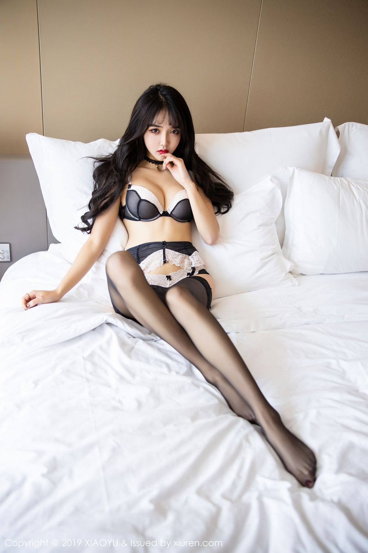 [XiaoYu] Vol.222 Miko Jiang 95P, Black Silk, Christmas, Miko Jiang, Tall, XiaoYu