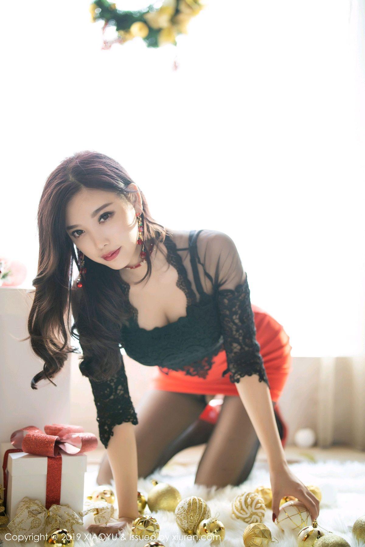 [XiaoYu] Vol.225 Yang Chen Chen 28P, Christmas, Underwear, XiaoYu, Yang Chen Chen