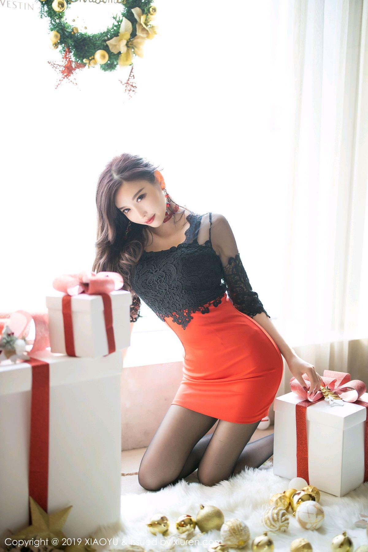 [XiaoYu] Vol.225 Yang Chen Chen 34P, Christmas, Underwear, XiaoYu, Yang Chen Chen