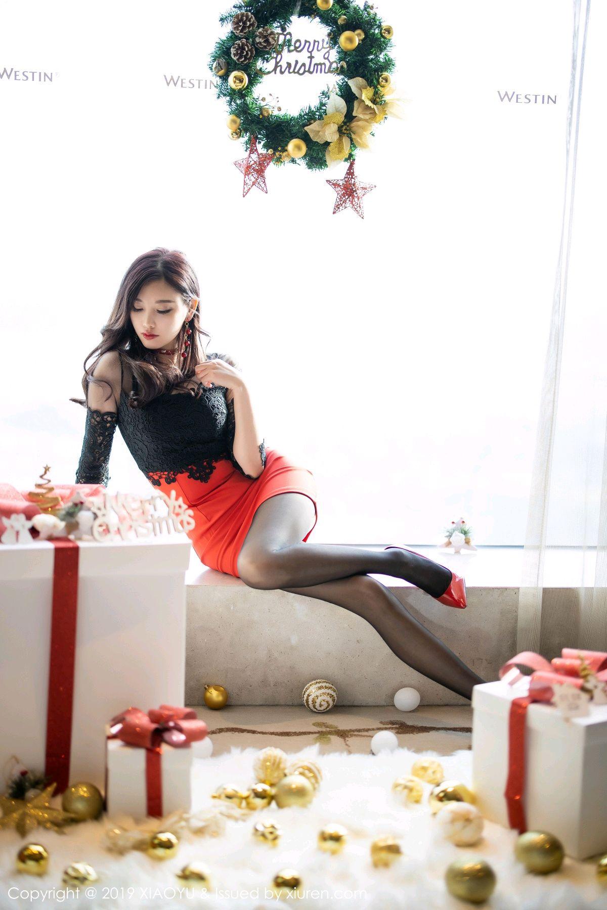 [XiaoYu] Vol.225 Yang Chen Chen 5P, Christmas, Underwear, XiaoYu, Yang Chen Chen